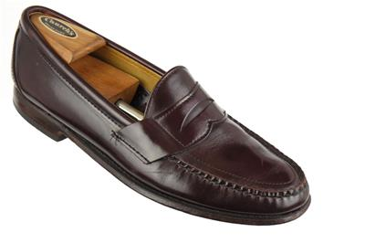 SEBAGO USA Made Sz. 10 C Penny Loafers Oxblood Lacquer ...