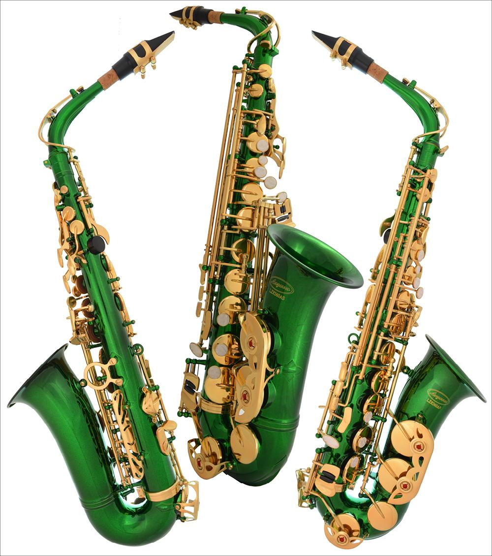 Lazarro® E-flat Eb Green-Gold Alto Saxophone Sax 4 Student ...
