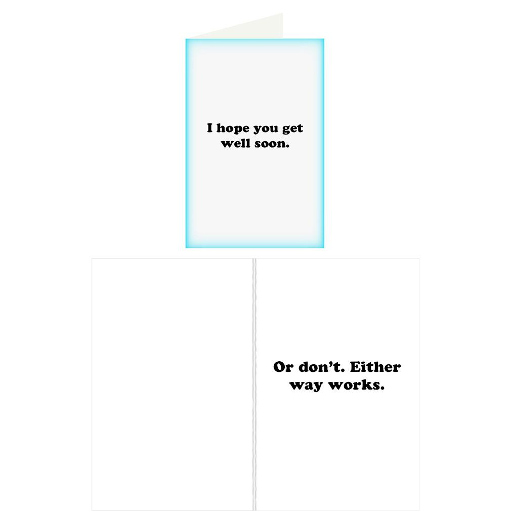 Re Cards Get Well Soon Greeting Card Funny Adult Humor Dirty