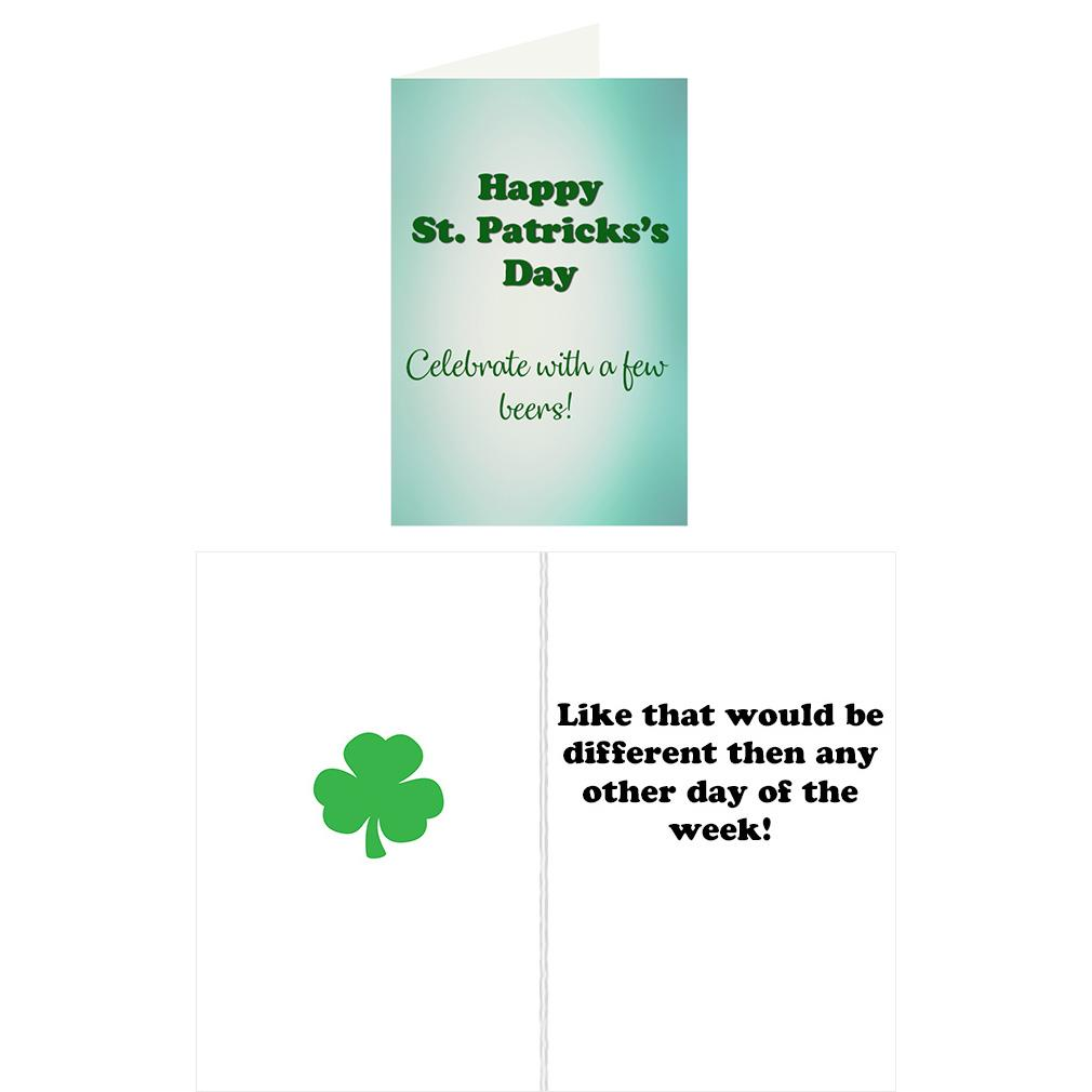 Re Cards St Patricks Day Greeting Card Funny Adult Humor