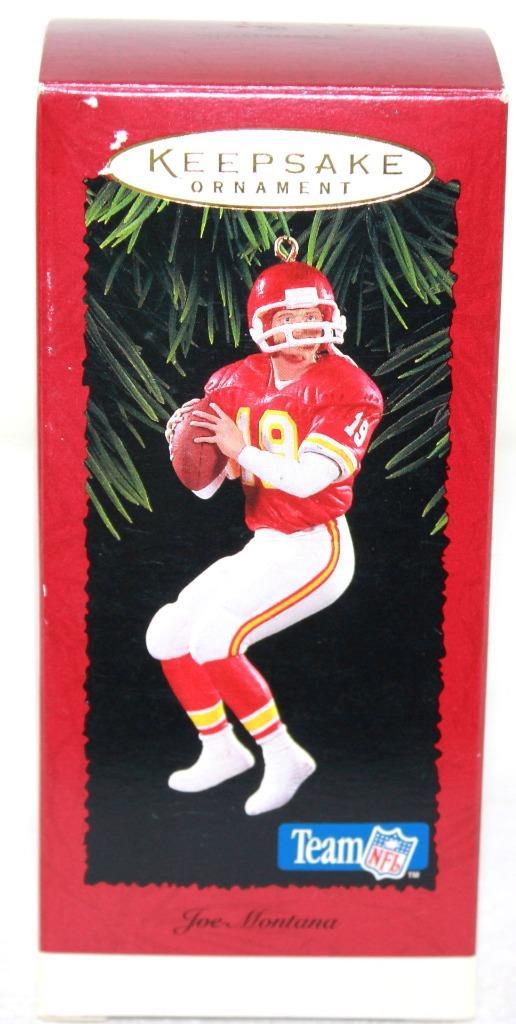 Ornament Football 1998 Hallmark Keepsake Joe Montana
