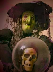 Halloween Animated Witch Prop W Talking Crystal Ball Ebay