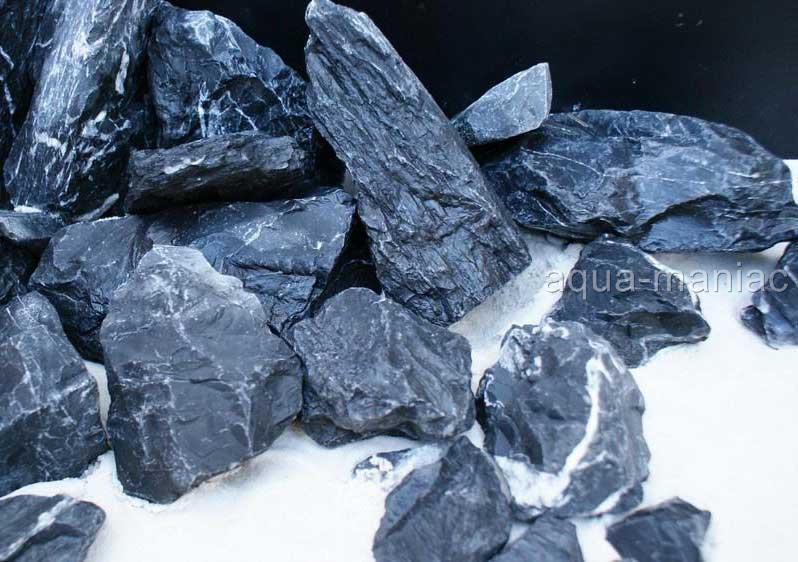Large Aquarium Stones : Aquarium black grey natural stone rock for fish tank