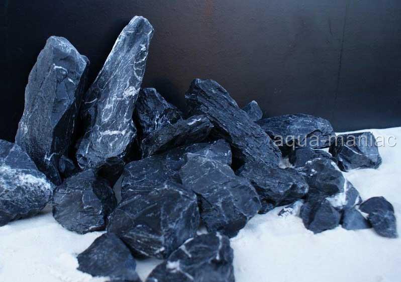 Aquarium black grey natural stone rock for fish tank for Fish tank rock cleaner