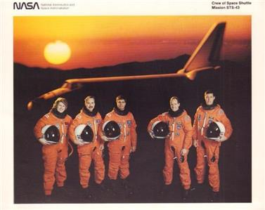 RARE NASA STS-43 SPACE SHUTTLE...