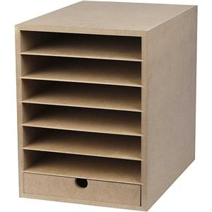 A4 Paper Card Storage Filing Cabinet MDF Wood Wooden ...