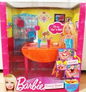 barbie dining room set | Barbie Glam Pink Refrigerator & Dining Table Furniture Set ...