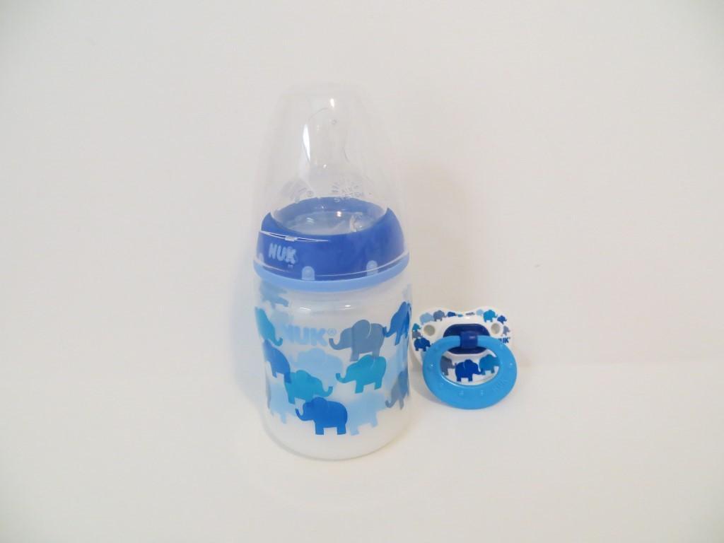 Reborn Baby Doll Bottle Set 5oz Faux Milk Nuk Blue