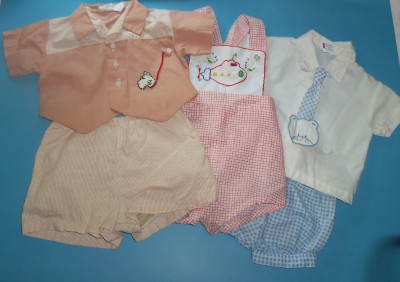 Vintage Baby Clothes 1950's Cream Embroidered Baby Girl  |1950 Baby Stuff