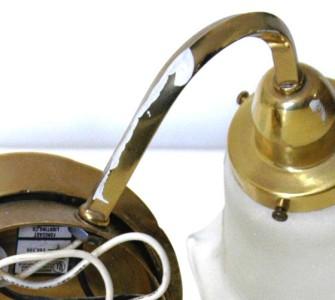 Solid Brass Shiny Shell Shaped Dual Light Fixture Wall