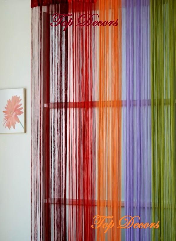String Curtain Fringe Panel Decoration Room Divider 20: STRING TASSEL DOOR CURTAIN COLOUR CHOICE W100L290cm W40