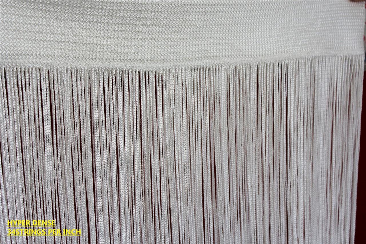 quasten schnur vorhang extra dicht ausgefranst raum teiler 20 farben 13 gr en ebay. Black Bedroom Furniture Sets. Home Design Ideas