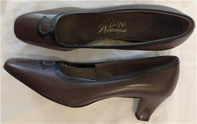 f556f9ba5989a Details about Vintage 1970s d'Alano Brown Chunky Heel Pumps Shoes Size 7N  Never Worn