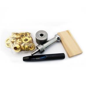 """W// Nickel Grommets C.S Osborne Set-It-Yourself Grommet Kit K231-4 1//2/"""" Hole"""