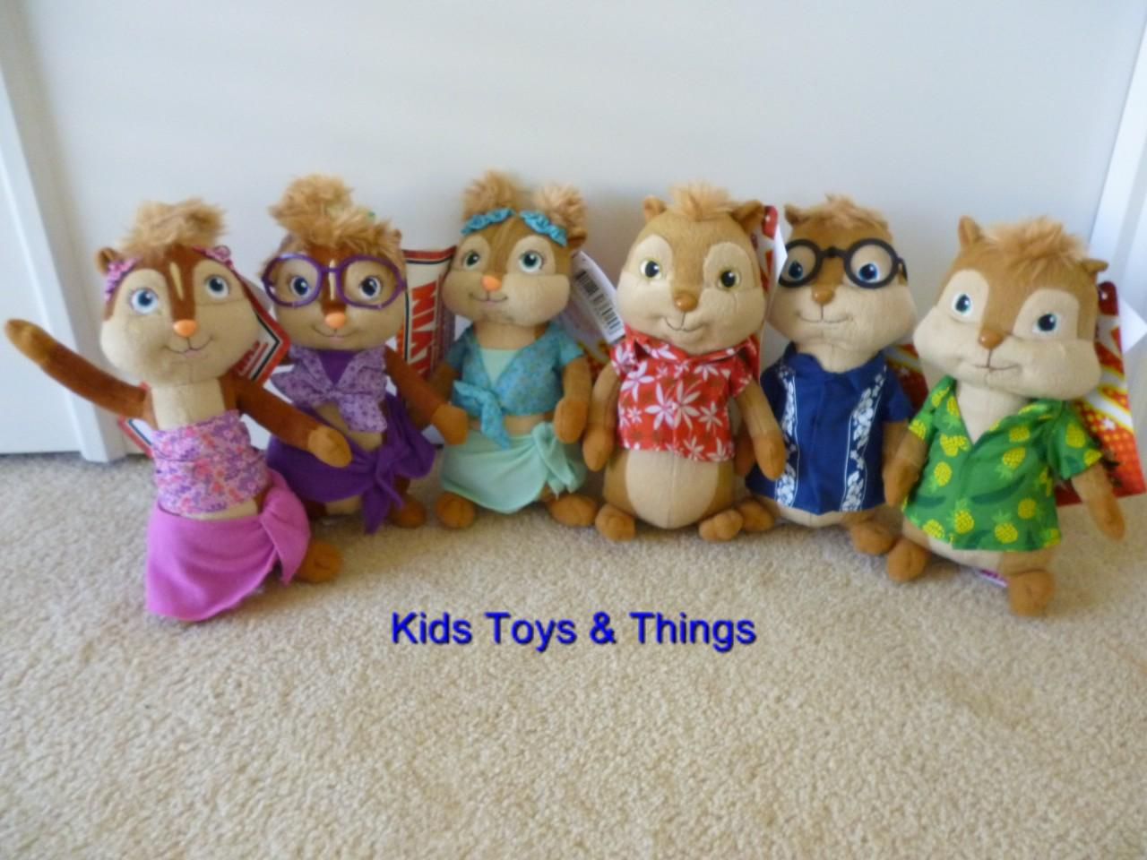 Alvin The Chipmunks Chipwrecked Set Of 6 Dolls Soft Toys 20cm Tall Bnwt On Popscreen