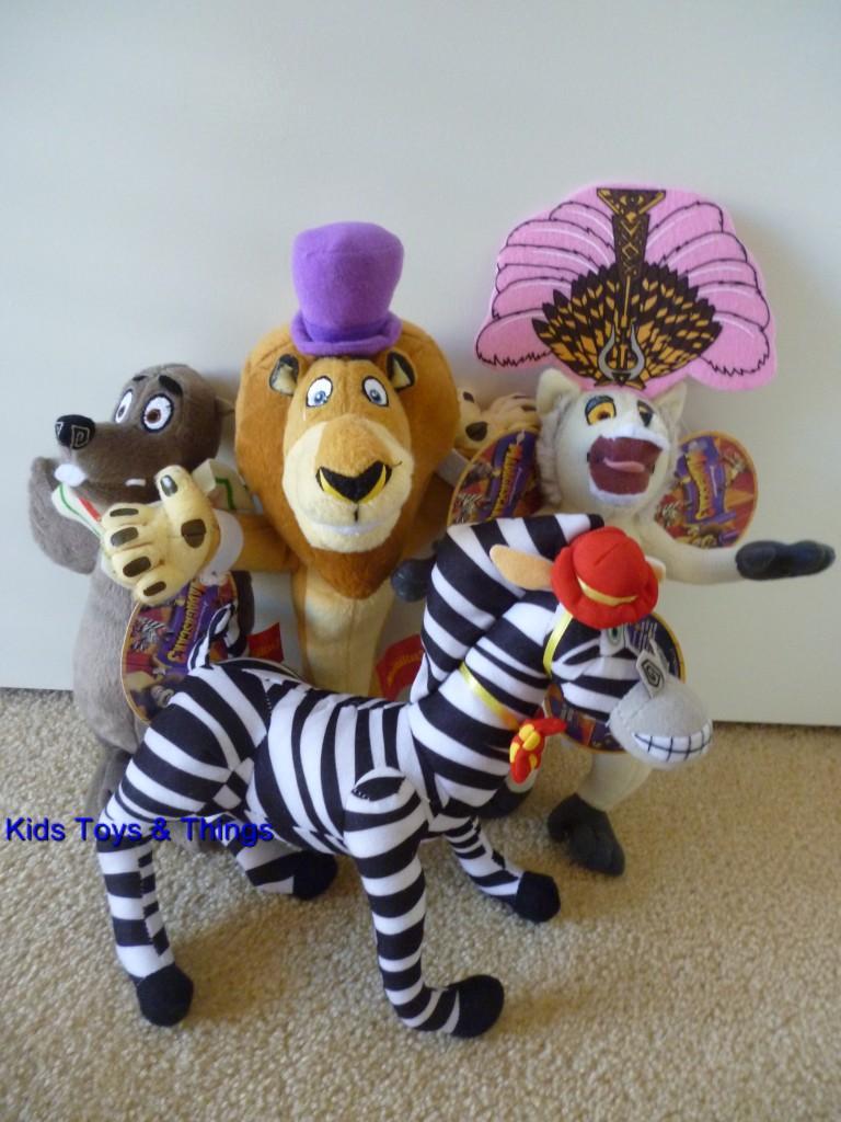 Madagascar 3 Movie Set of 4 Characters Plush Soft Toys BNWT