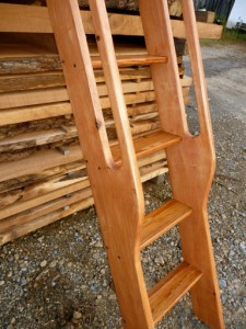 Loft Ladder Antique Space Saving Stairs Attic Library Ship