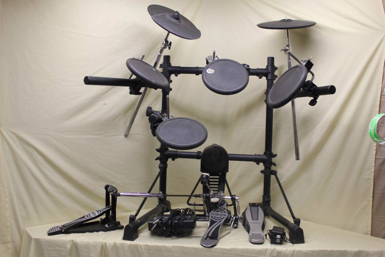 roland td 3 portable electronic drum set 7 trigger pads stand td3 module ebay. Black Bedroom Furniture Sets. Home Design Ideas
