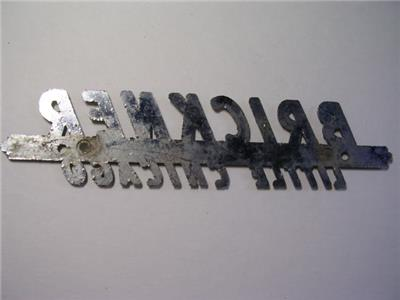 Brickners Little Chicago >> Details About Vintage Brickner Little Chicago Marathon Wis Metal Dealer Name Plate Wi Wisc