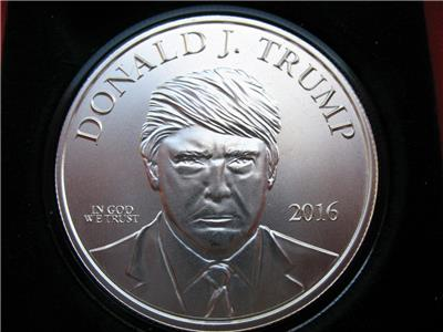 1-OZ.999 SILVER DONALD TRUMP 45TH PRESIDENT MAGA INAUGURATION GIFT BOX COIN+GOLD