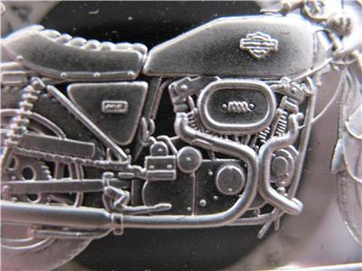 1.4-OZ.999 RARE SILVER 1990 FAT BOY HARLEY COIN STURGIS 2ND EDITION ANNIV BAR