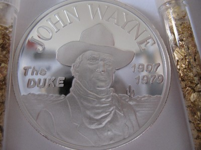 1 Oz Rare Detailed John Wayne The Duke 1907 1979 Silver