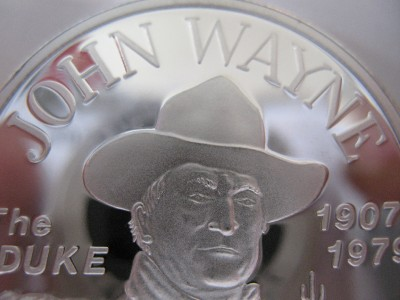 1 Oz Rare Detailed John Wayne The Duke 1907 1979 Silver
