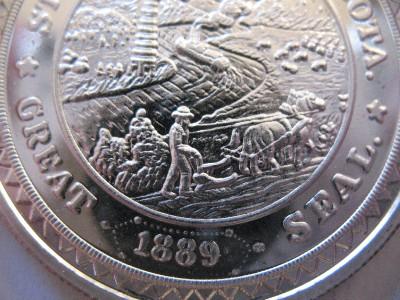 1 Oz South Dakota State Seal Bullion Coin Buffalo 999