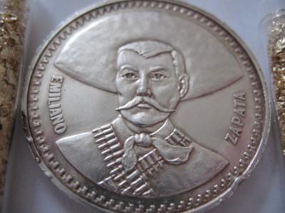1 Troy Ounce Una Onza Pura Silver 999 Coin Rare Emiliano