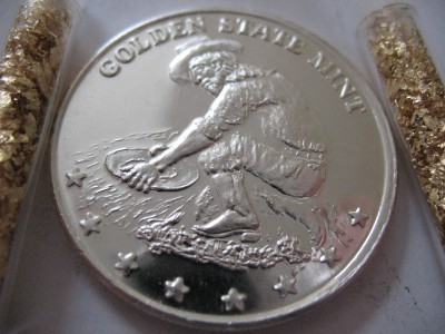 1 Oz Silver 999 Coin Golden State Mint Prospector Eagle