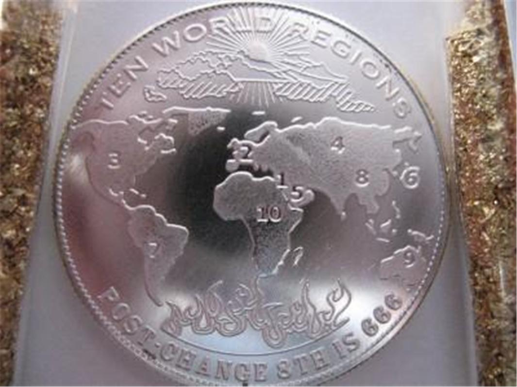 1 Oz Pure 999 Silver Art Coin 10 World Regions Post 666