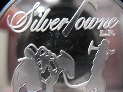1-OZ.999 PURE SILVER DETAILED COIN PROSPECTOR AND MULE BULLION /& BARTER GOLD