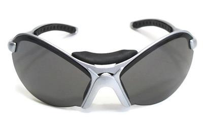 8955785ab99d Salice OcchIali Cycling Biking Sport Sunglasses Silver Frame Black Lens  Italy