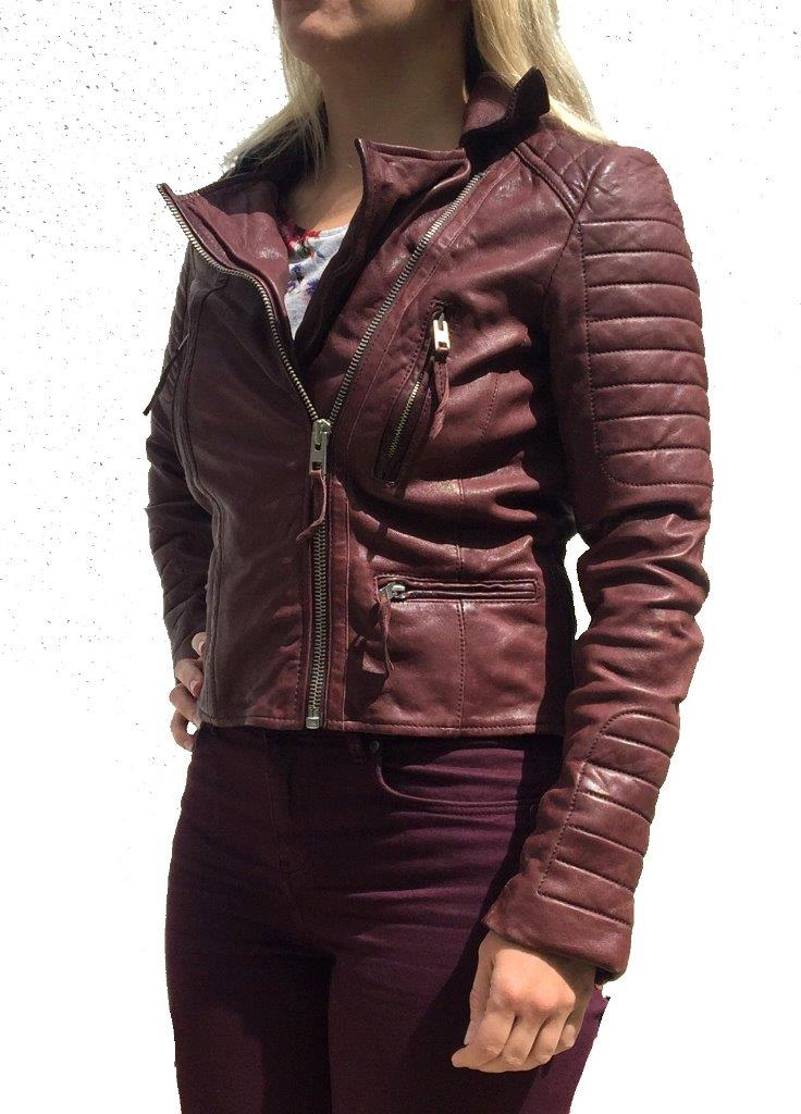 *RARE STYLE* ALL SAINTS OXBLOOD LEATHER BIKER JACKET UK 8 /& 10 RRP £380 $670