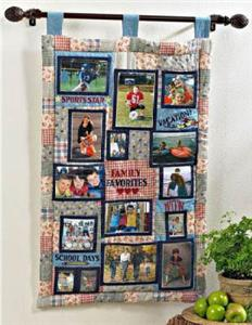 Photo Holding Family Quilt Wall Hanging Frame New Ebay