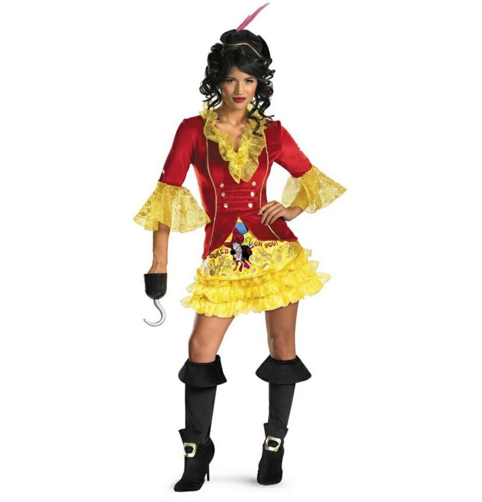 Disney Captain Hook Peter Pan Adult Woman Costume New | eBay