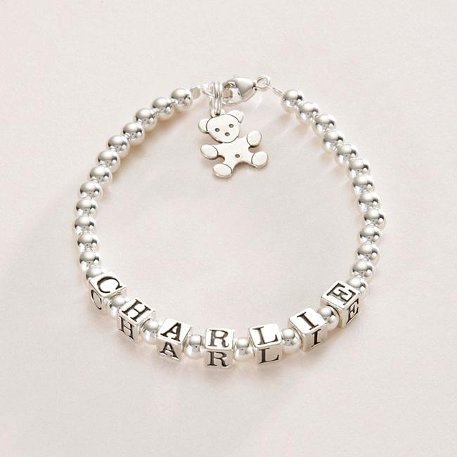 Sterling Silver Name Bracelets For Girls Personalised