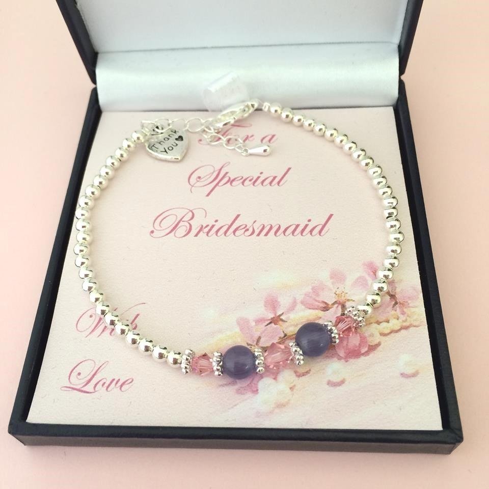 Wedding Thank You Gifts For Bridesmaids: Bridesmaid Bracelets, Thank You Gift For Bridesmaid Or