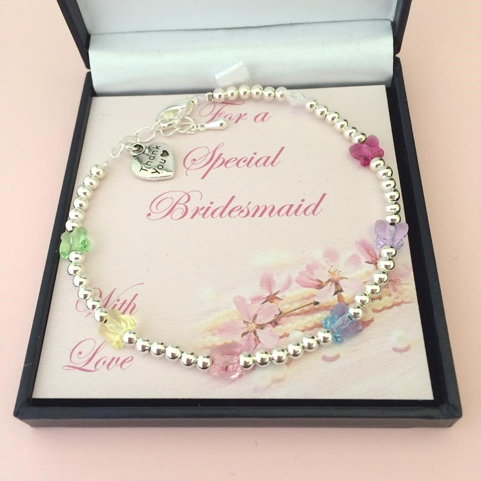 Best Wedding Gift For Girl: Bridesmaid Bracelets, Thank You Gift For Bridesmaid Or