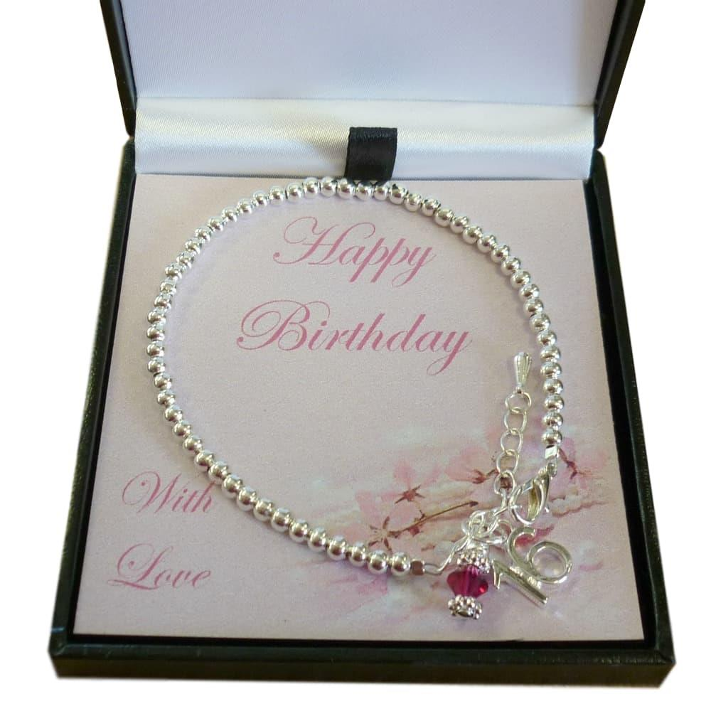 16th Birthday18th Birthday Gift18th Birthday Present By: 16th, 18th Or 21st Birthday Gift Bracelet With Birthstone