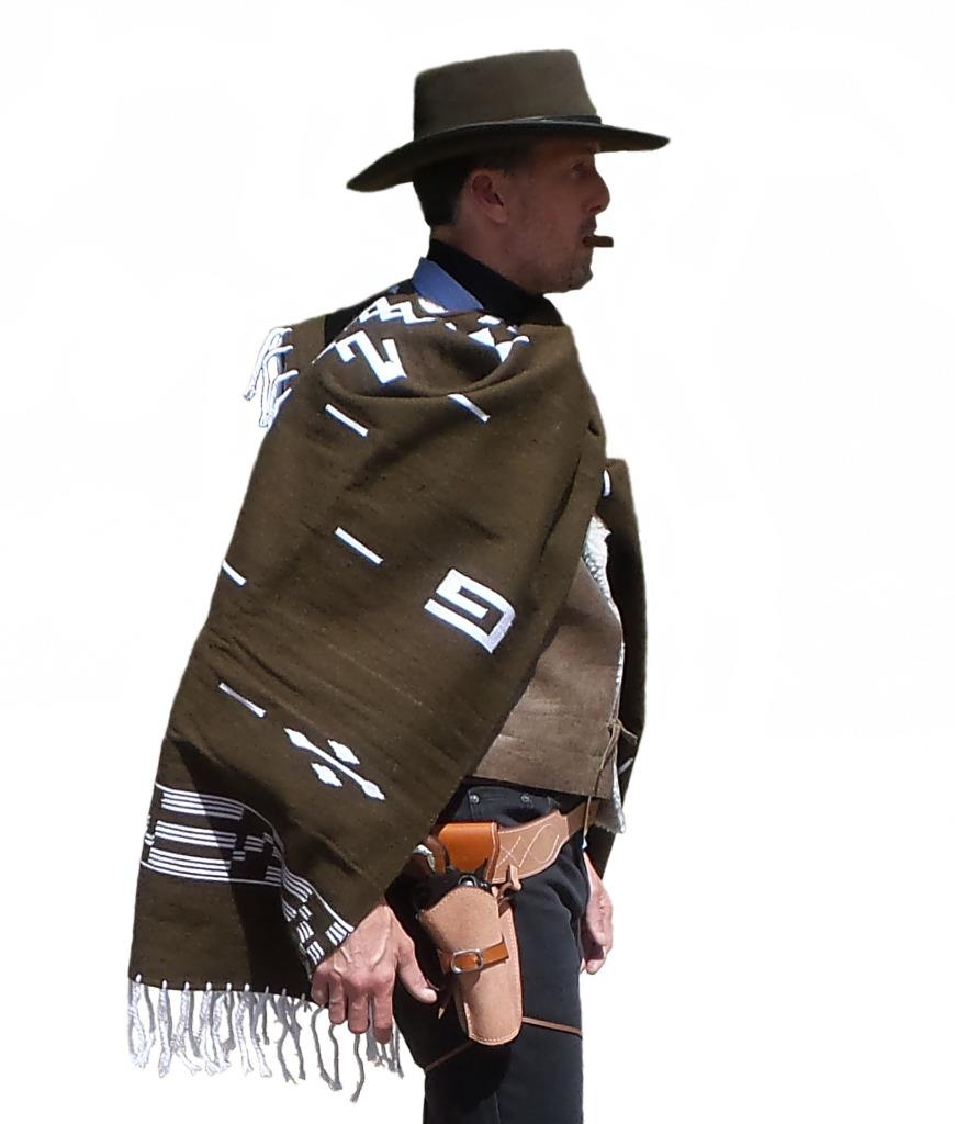 Clint Eastwood Brown Poncho