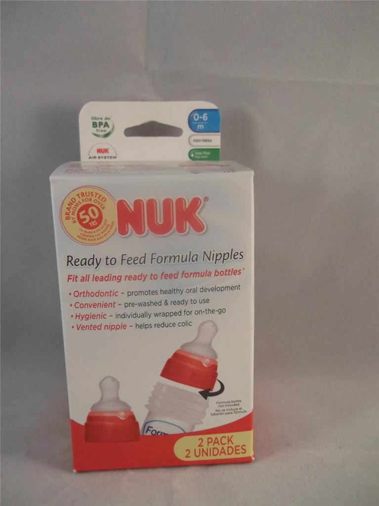 Nuk Orthodontic Ready To Feed Formula Nipples Slow Flow
