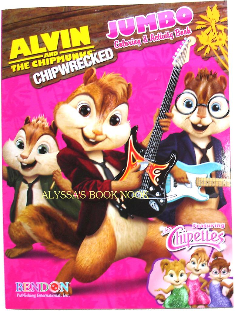 Alvin and the Chipmunks: CHIPWRECKED - COLORING & ACTIVITY BOOK ...
