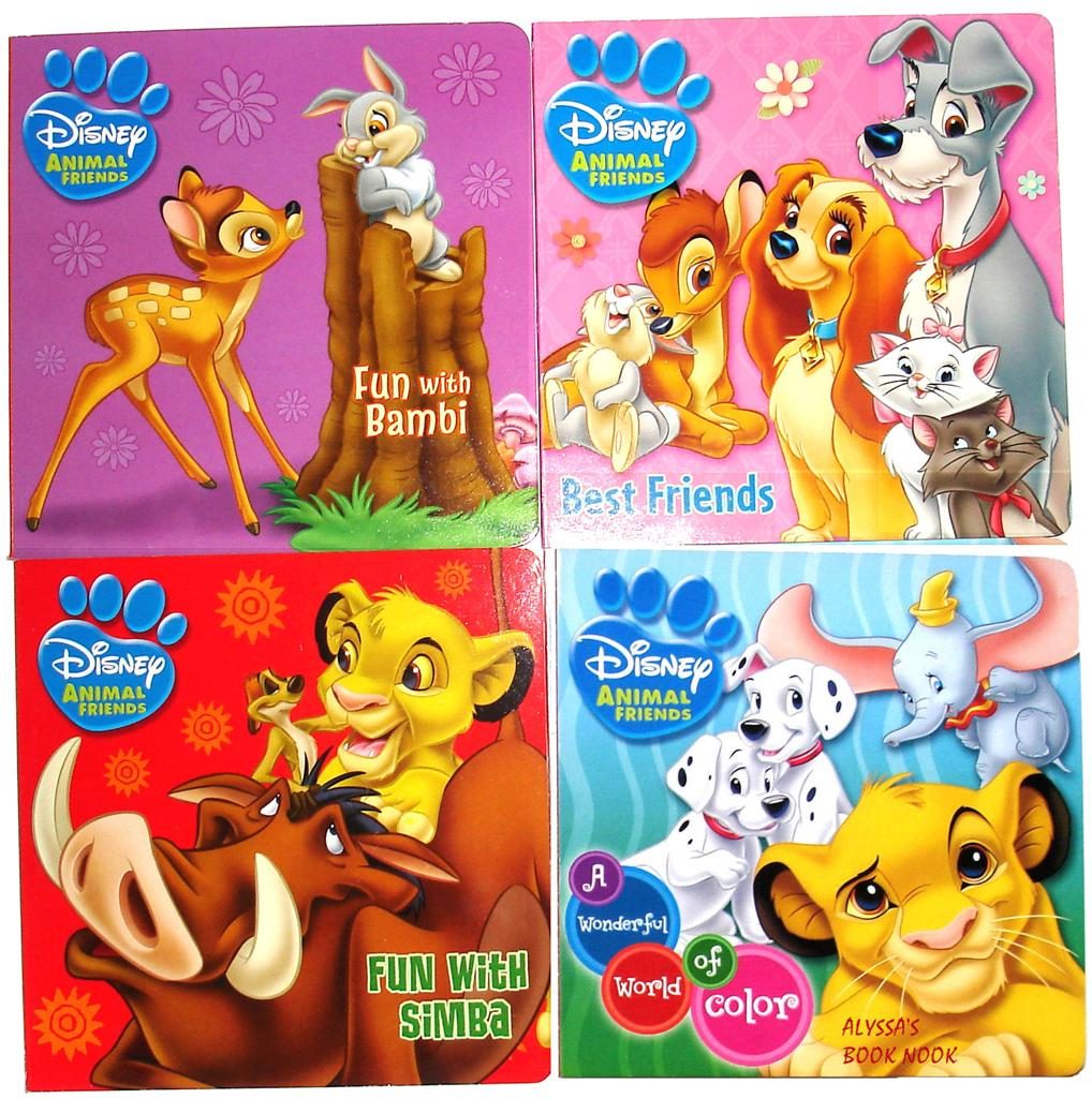 Lady And The Tramp Coloring Book Kids Fun Com: DISNEY'S ANIMAL FRIENDS ~ADORABLE 4 BOARD BOOKS SET~