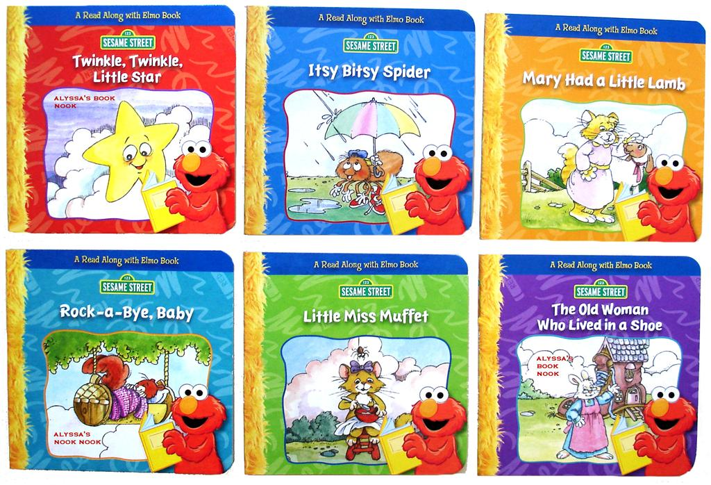 Sesame Street Elmo Holiday Board Book Set For Kids Toddlers Set of 3 Board Books