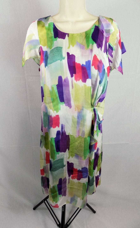 0c1af5f53dab6 Detalles acerca de Emporio Armani vestido de seda Multi Color 42   US 8  Nuevo Con Etiquetas  687 venta al por menor- mostrar título original