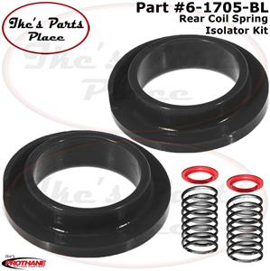 Pack of 2 Prothane 19-1706 Red Universal Coil Spring Isolator