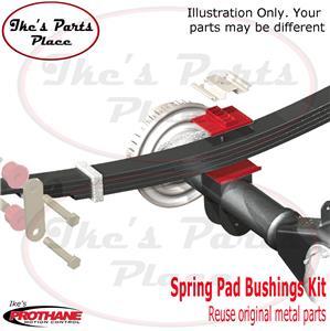 Prothane 7-1703-BL Black Rear Upper Multi Leaf Spring Pad Kit