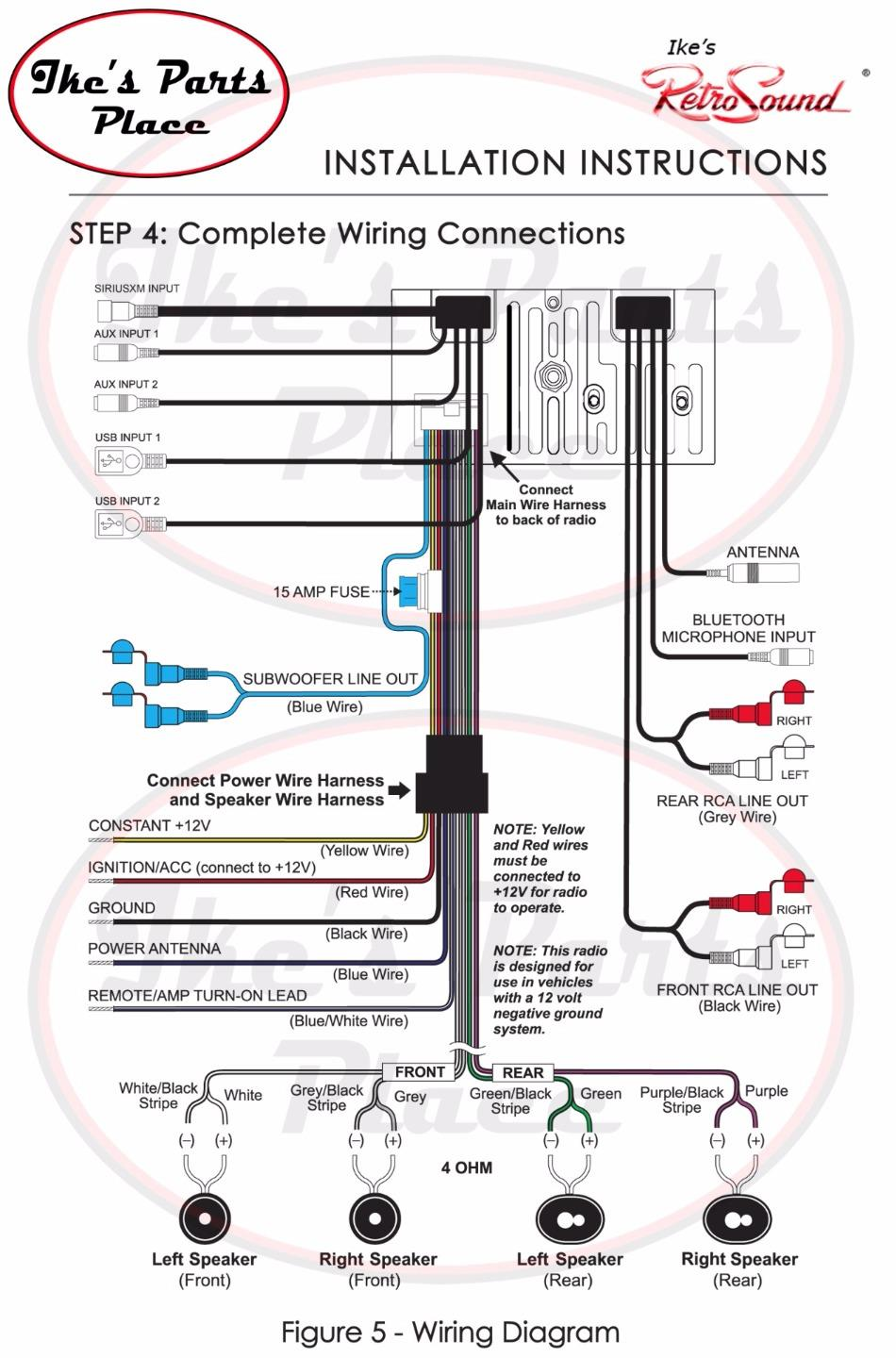 Ford Ipod Auxiliary Wiring Diagram Not Lossing Apple Cable Retrosound Hermosa C Radio Bluetooth Usb 3 5mm Aux In 4 221 03 Rh Ebay Com Amplifier Charger