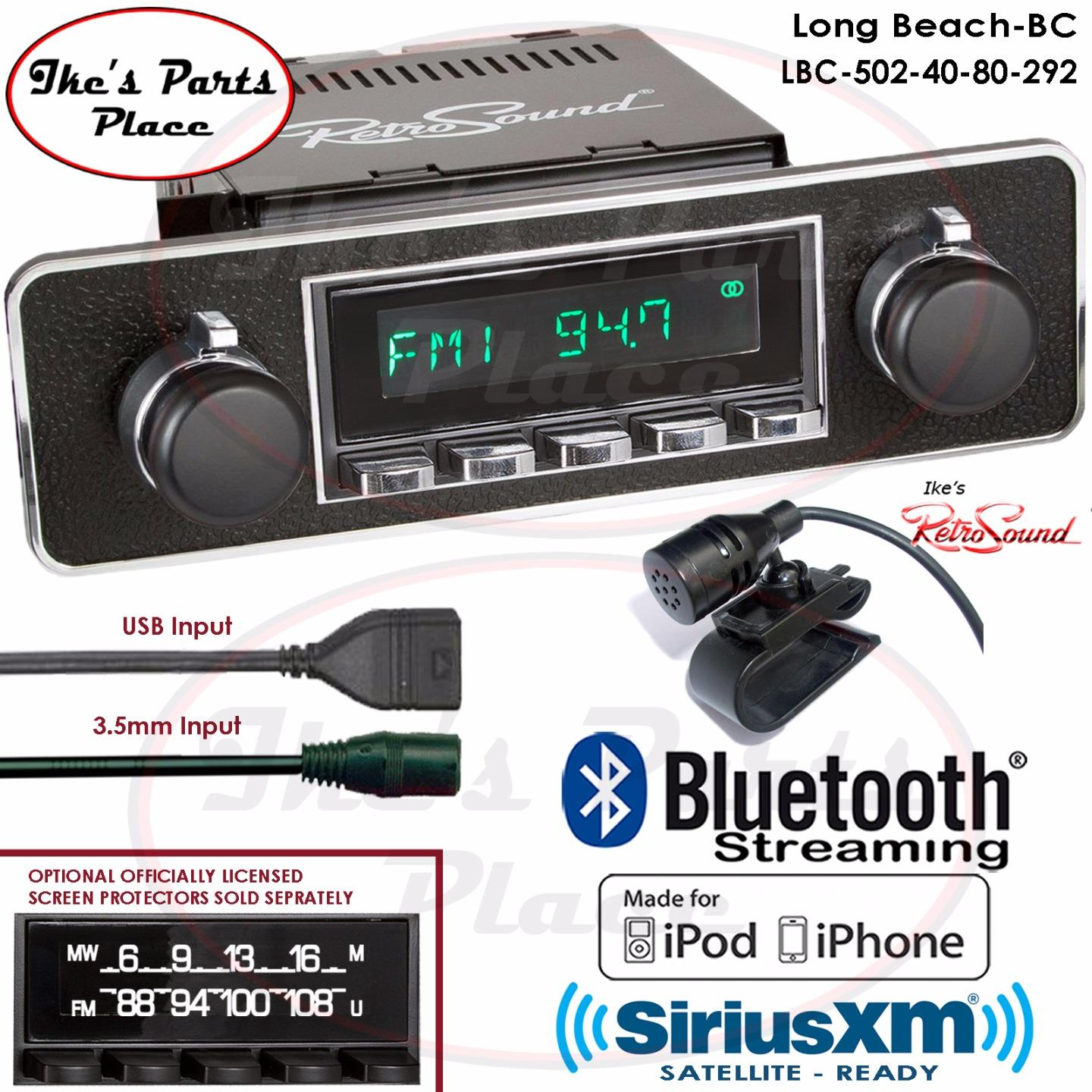 retrosound long beach bc radio bluetooth usb rds aux. Black Bedroom Furniture Sets. Home Design Ideas